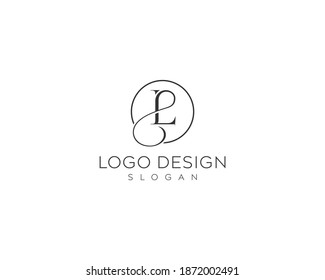 Abstract letter LP logo, PL vector logo design