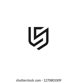 Abstract letter LS shield logo design template. Premium nominal monogram business sign. Universal foundation vector icon. - Vector