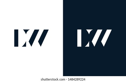 Abstract letter LW logo. This logo icon incorporate with abstract shape in the creative way.