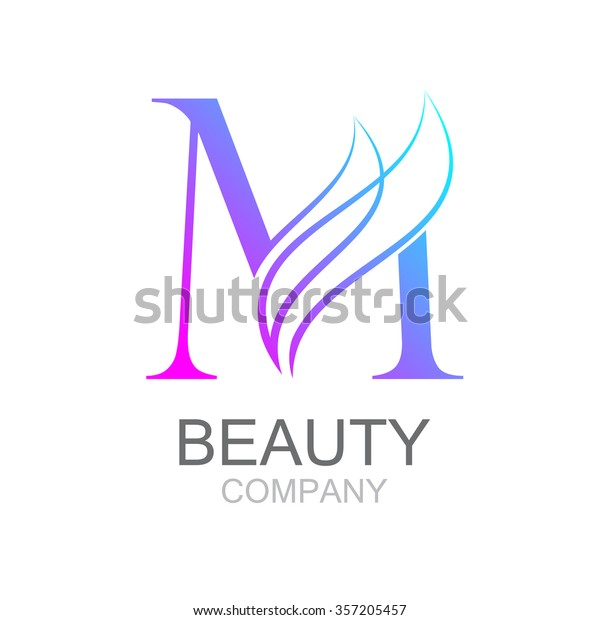 Abstract Letter M Logo Design Template Stock Vektorgrafik