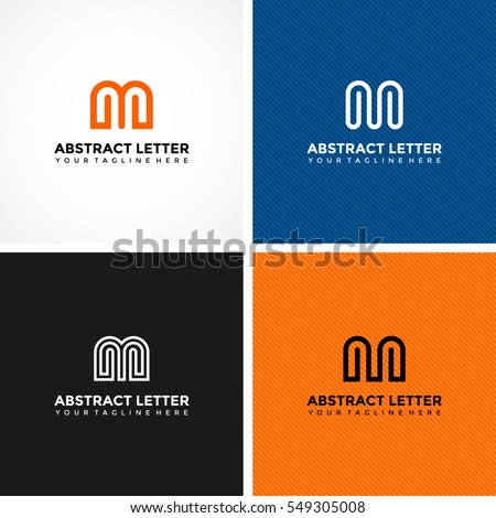abstract letter m logo template 4 のベクター画像素材 ロイヤリティ