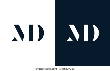 Abstract letter MD logo. This logo icon incorporate with abstract shape in the creative way.