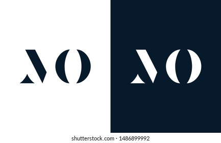 Abstract letter MO logo. This logo icon incorporate with abstract shape in the creative way.