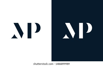 Abstract letter MP logo. This logo icon incorporate with abstract shape in the creative way.