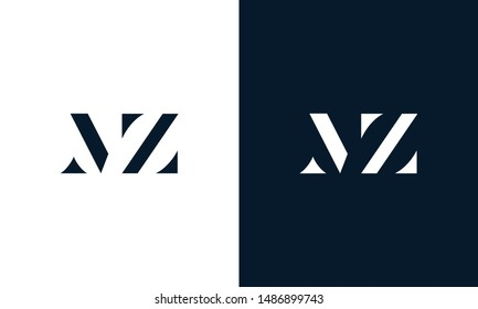 Abstract letter MZ logo. This logo icon incorporate with abstract shape in the creative way.