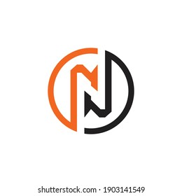 Abstract Letter N Logo Design