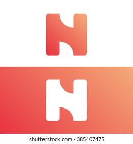 Abstract letter N logo template. N logo. Letter N icon. Business logo template. Vector. Minimal logo. Monogram. Flat logo