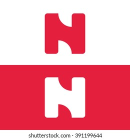 Abstract letter N logo template. Letter N icon. Business logo template. Isolated logo on white background. Monogram. Unusual logo. Minimalistic logo. Minimal logo