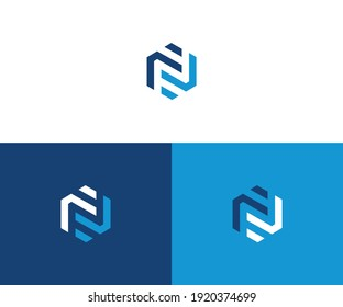 Abstract letter N logotype. Modern logo idea sign. Universal emblem vector icon