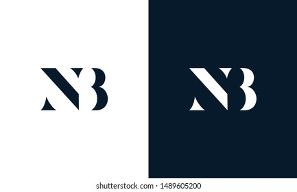 Abstract letter NB logo. This logo icon incorporate with abstract shape in the creative way.