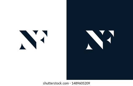 Abstract letter NF logo. This logo icon incorporate with abstract shape in the creative way.