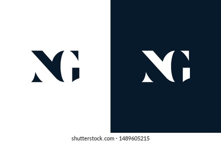 Abstract letter NG logo. This logo icon incorporate with abstract shape in the creative way.