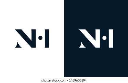Abstract letter NH logo. This logo icon incorporate with abstract shape in the creative way.