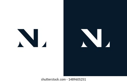 Abstract letter NL logo. This logo icon incorporate with abstract shape in the creative way.