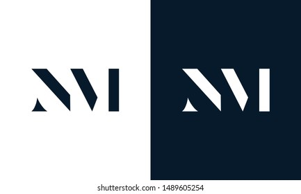 Abstract letter NM logo. This logo icon incorporate with abstract shape in the creative way.
