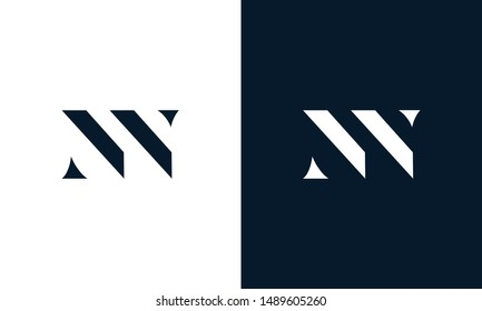 Abstract letter NN logo. This logo icon incorporate with abstract shape in the creative way.