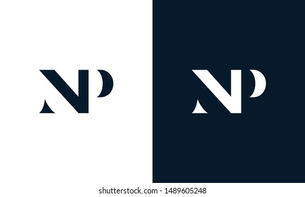 Abstract letter NP logo. This logo icon incorporate with abstract shape in the creative way.