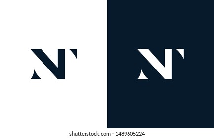 Abstract letter NT logo. This logo icon incorporate with abstract shape in the creative way.