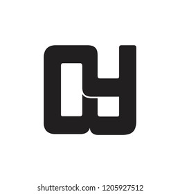 abstract letter nw square logo vector