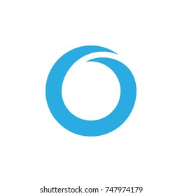 abstract letter o g or number 0 symbol logo vector