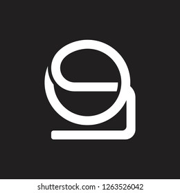 abstract letter os lines art logo vector