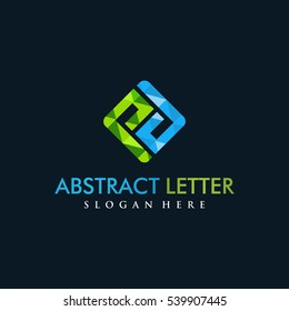 Abstract Letter PD Logo. polygon style. dark background. Vector illustrator eps.10