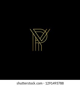 Abstract letter PY YP. Minimal logo design template. Vector letter logo with gold and black color.