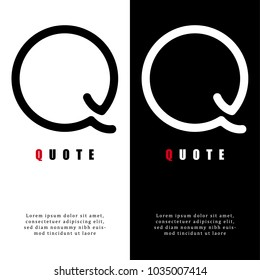 Abstract letter Q logo design, Decorative English letter Q logo, Design of capital English letter logo, Vector illustration, Vector graphic design of unique alphabet logo