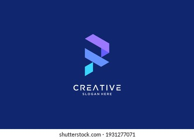 Abstract Letter R logo design inspiration