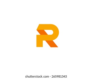 Abstract letter R logo design template. Colorful creative sign. Universal vector icon.