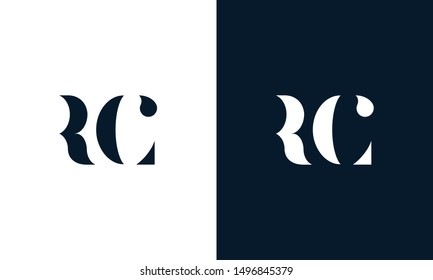 Abstract letter RC logo. This logo icon incorporate with abstract shape in the creative way. Its look like letter R and C.