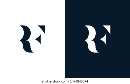 Abstract letter RF logo.. This logo icon incorporate with abstract shape in the creative way. Its look like letter R and F.