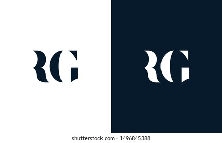 Abstract letter RG logo. This logo icon incorporate with abstract shape in the creative way. Its look like letter R and G.