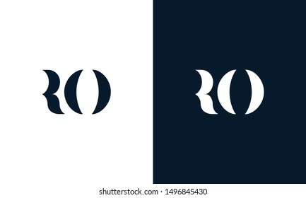 Abstract letter RO logo. This logo icon incorporate with abstract shape in the creative way. Its look like letter R and E.