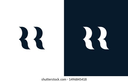Abstract letter RR logo. This logo icon incorporate with abstract shape in the creative way. Its look like letter R and R.