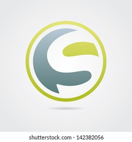 Abstract Letter S Icon