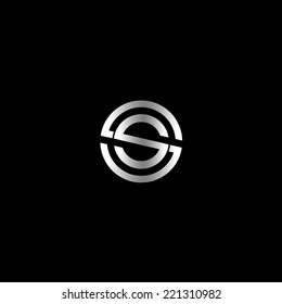 Abstract letter S logo design
