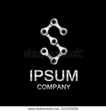 34ce1cb6c Vetor stock de Abstract Letter S Logo Design Template Silver Chain ...