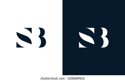 Abstract letter SB logo. This logo icon incorporate with abstract shape in the creative way. It look like letter S and B.