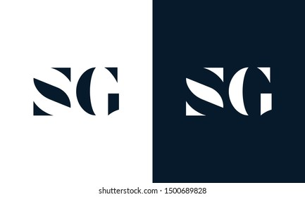 Abstract letter SG logo. This logo icon incorporate with abstract shape in the creative way. It look like letter S and G.