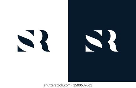 Abstract letter SR logo. This logo icon incorporate with abstract shape in the creative way. It look like letter S and R.