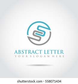 Abstract Letter SS Logo Template. Vector Illustrator eps.10