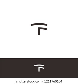 Abstract Letter T & F icon / logo template