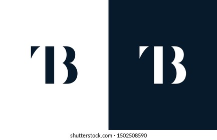 Abstract letter TB logo. This logo icon incorporate with abstract shape in the creative way. It look like letter T and B.