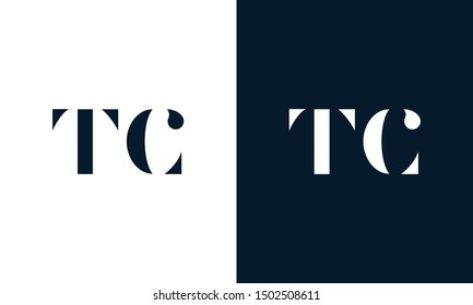 Abstract letter TC logo. This logo icon incorporate with abstract shape in the creative way. It look like letter T and C.