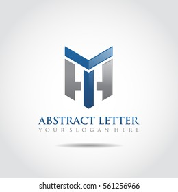 Abstract Letter TH Logo Template. Vector Illustrator Eps.10