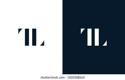 Abstract letter TL logo. This logo icon incorporate with abstract shape in the creative way. It look like letter T and L.