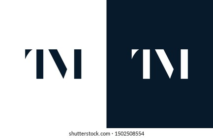 Abstract letter TM logo. This logo icon incorporate with abstract shape in the creative way. It look like letter T and M.