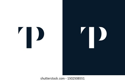 Abstract letter TP logo. This logo icon incorporate with abstract shape in the creative way. It look like letter T and P.