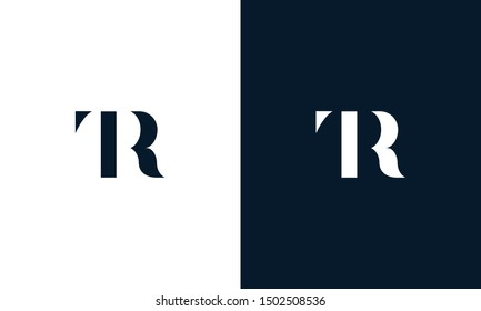 Abstract letter TR logo. This logo icon incorporate with abstract shape in the creative way. It look like letter T and R.